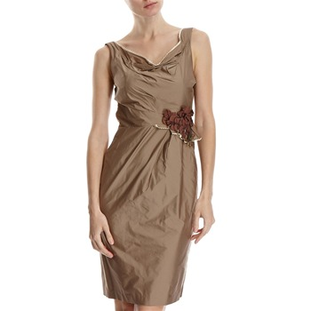 Hoss Intropia Stone Corsage Ruche Dress