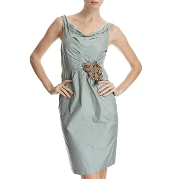Hoss Intropia Sage Green Corsage Ruche Dress