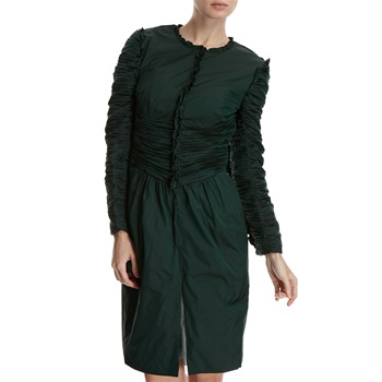 Hoss Intropia Emerald Ruffled Duster Jacket