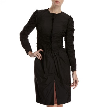 Hoss Intropia Black Ruffled Duster Jacket