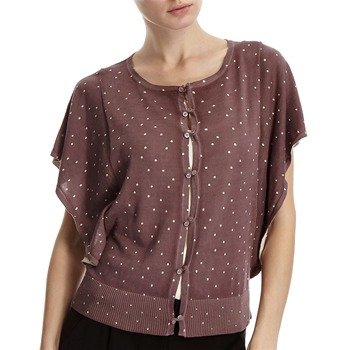 Hoss Intropia Raisin Spotted Batwing Cardigan
