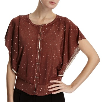 Hoss Intropia Brown Spotted Batwing Cardigan