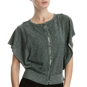 Hoss Intropia Sage Spotted Batwing Cardigan