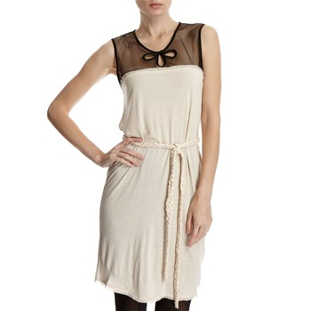 Hoss Intropia Ivory Mesh Cut Out Dress