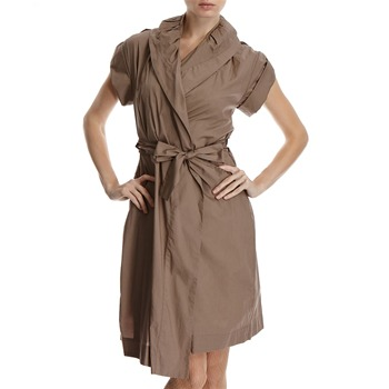 Hoss Intropia Mink Shawl Collar Cotton Shirt Dress