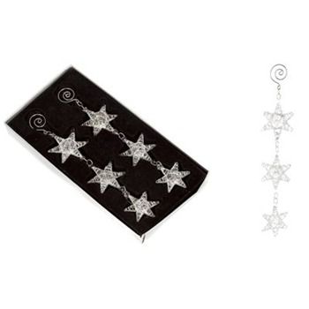 Heaven Sends Set of Two Glass Lattice Hanging Stars