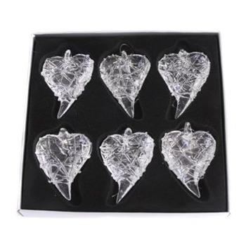Heaven Sends Set of Two Glass Lattice Hanging Hearts
