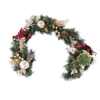 Heaven Sends Burgundy/Gold Luxury Garland