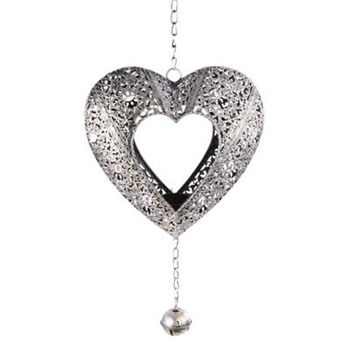 Heaven Sends Silver Small Heart Candle Holder