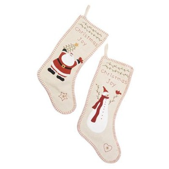 Heaven Sends White Santa/Snowman Stockings