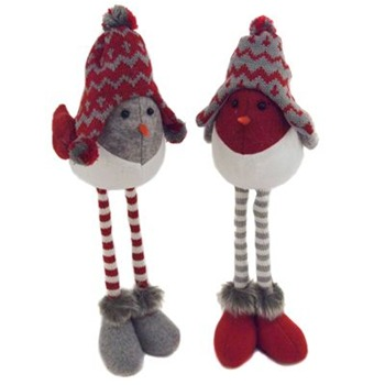 Heaven Sends Red Long Leg Knitted Birds