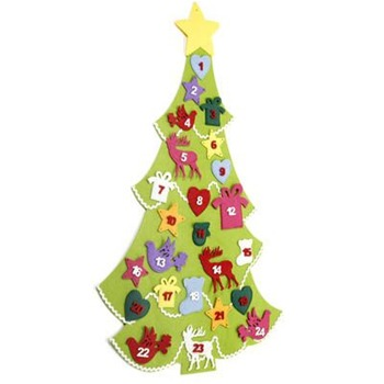 Heaven Sends Green Felt Advent Tree