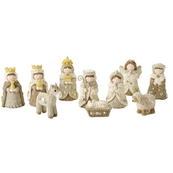 Heaven Sends Small White Nativity Set