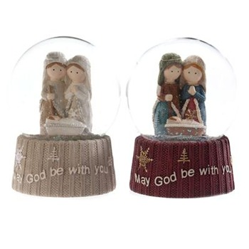 Heaven Sends Nativity Scene Snow Ball