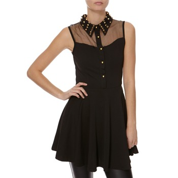 Point Black Sleeveless Studded Dress