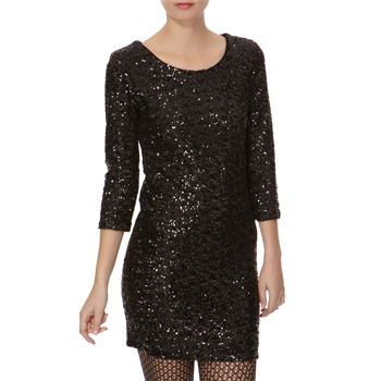 Sweewe Black Allover Sequin Dress