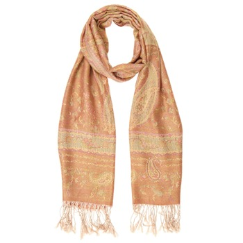 Yas Silver Orange/Multi Fringed Pashmina