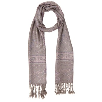 Yas Silver Violet/Multi Fringed Pashmina