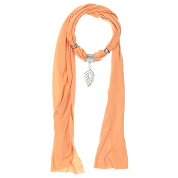 Yas Silver Orange Jersey Embellished Scarf