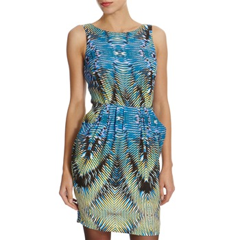 Closet Blue/Yellow Printed Dress