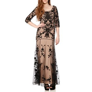 Temperley London Black/Beige Florence Dress
