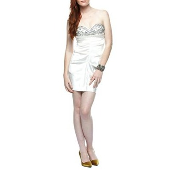 Ruth Tarvydas White/Silver Sequin Hollywood dress