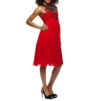 Ruth Tarvydas Red Sunray Embellished Dress