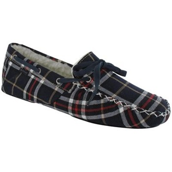 Gant Navy/White/Red Shearling Carson Slippers