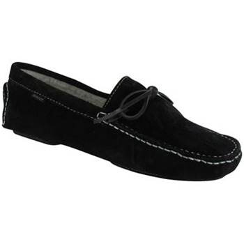 Gant Black Suede Shearling Clayton Slippers