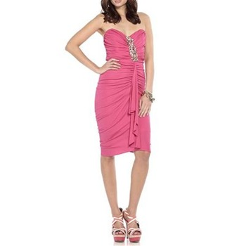 Badgley Mischka Pink Dance With Me Embellished Dress