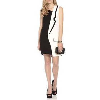 Jean Pierre Braganza Black/White Tuxedo Silk Dress
