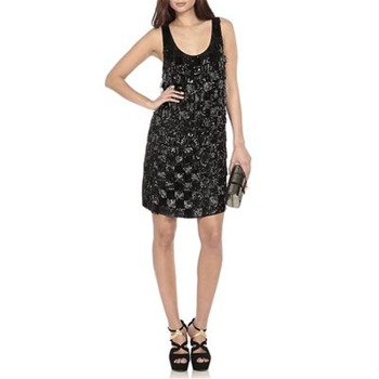 Erin Fetherston Black Shimmy Shimmy Sequin Silk Dress