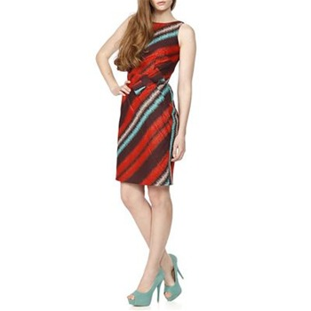 Eva Franco Red Matsuko Stripe Dress