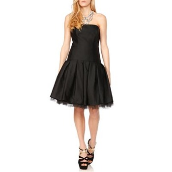 Milly Black Rhumba Wool/Silk Cocktail Dress