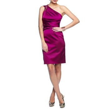 David Meister Pink Sequin Shoulder Dress