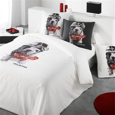 teo jasmin teo racing blanc housse de couette blanc brandalley. Black Bedroom Furniture Sets. Home Design Ideas