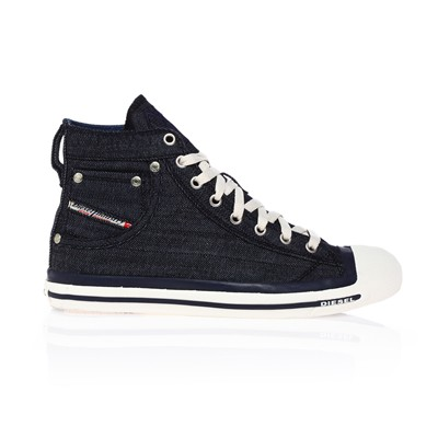 Diesel EXPOSURE HIGH SNEAKERS JEANSBLAU