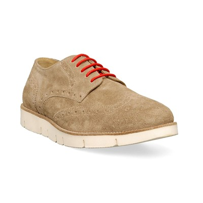 M by DERBIES EN CUIR BEIGE Chaussure France_v10097