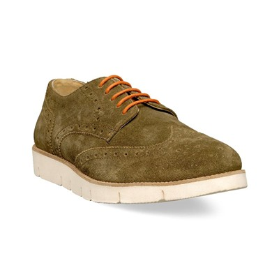 M by DERBIES EN CUIR KAKI Chaussure France_v10098