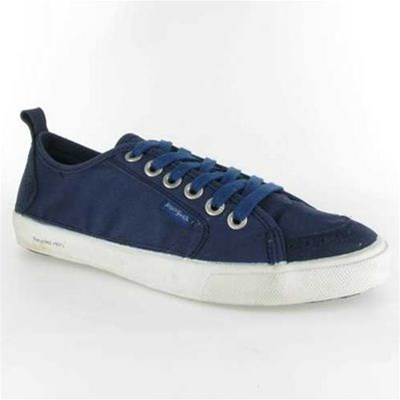 Peopleswalk FLY SUEDE POLYCANVAS BASKETS BASSES BLEU Chaussure France_v2121