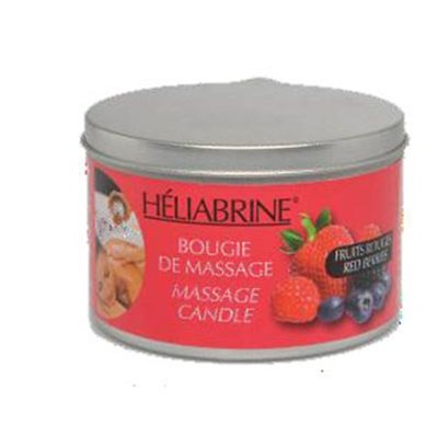 Bougie de massage fruits rouges 150 g Heliabrine