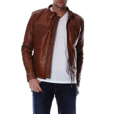 Chyston Cuir GIACCA IN PELLE COGNAC