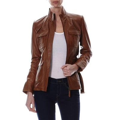Chyston Cuir CLAUDIA GIACCA IN PELLE COGNAC