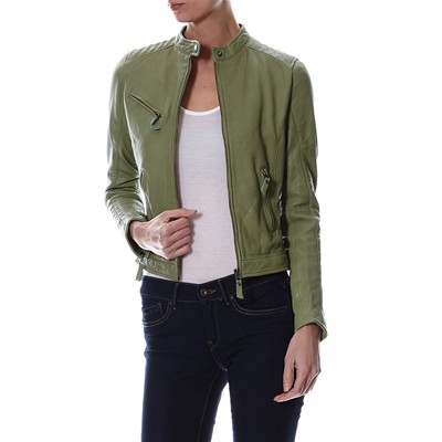 Chyston Cuir CINDY GIACCA IN PELLE VERDE