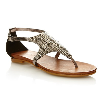Inuovo SANDALES EN CUIR ETAIN Chaussure France_v5366