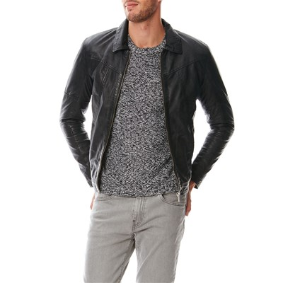 Usual Way KARLMANN GIACCA IN PELLE NERO