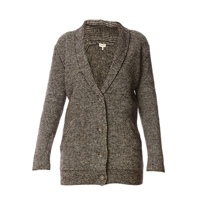 Romy & Ray KELLY CARDIGAN LUNGO IN LANA E COTONE ANTRACITE