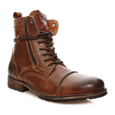 Pepe Jeans Footwear MELTING ZIPPER NEW BOOTSSTIEFLETTEN BRAUN