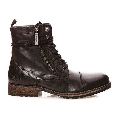 Pepe Jeans Footwear MELTING ZIPPER NEW LEDERBOOTS SCHWARZ