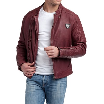 Kaporal ENZO GIACCA IN PELLE BORDEAUX